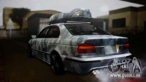 BMW M5 E39 Camouflage pour GTA San Andreas laissé vue