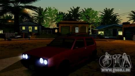 ENB pour les faibles et moyennes PC SA:MP pour GTA San Andreas dixième écran