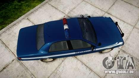GTA V Vapid Police Cruiser Gendarmerie1 für GTA 4 rechte Ansicht