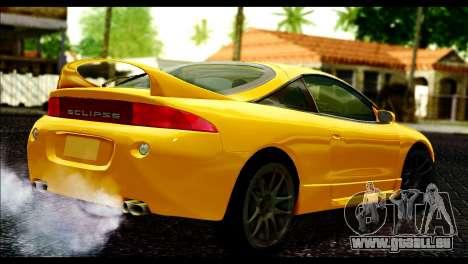 Mitsubishi Eclipce 1999 pour GTA San Andreas laissé vue