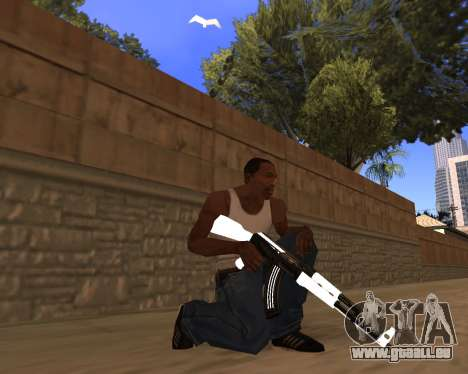 White Chrome Gun Pack pour GTA San Andreas cinquième écran
