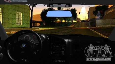 BMW M3 E36 UUTuning pour GTA San Andreas sur la vue arrière gauche