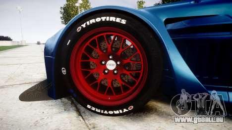 Aston Martin V12 Vantage GT3 2012 für GTA 4 Rückansicht