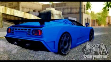 Bugatti EB110SS pour GTA San Andreas laissé vue