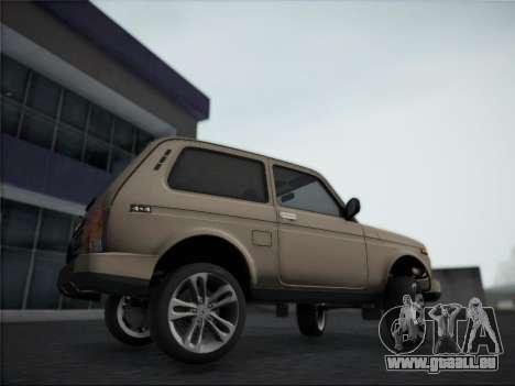 Lada Urdan pour GTA San Andreas sur la vue arrière gauche