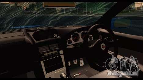 Nissan Skyline R-34 pour GTA San Andreas sur la vue arrière gauche