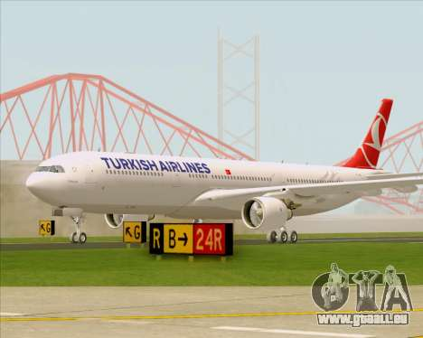 Airbus A330-300 Turkish Airlines für GTA San Andreas linke Ansicht