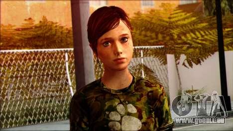 Ellie from The Last Of Us v3 pour GTA San Andreas troisième écran