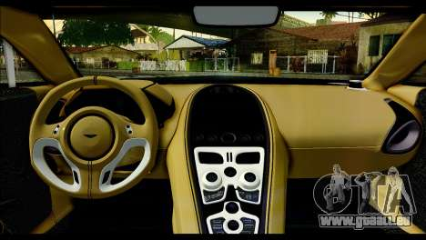 Aston Martin One-77 Beige Black für GTA San Andreas Rückansicht