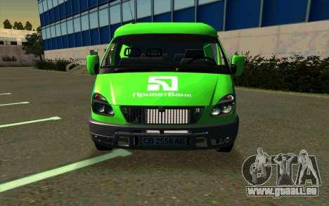 GAZelle 2705 PrivatBank pour GTA San Andreas laissé vue
