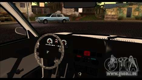 Tofas Dogan 90 Model pour GTA San Andreas sur la vue arrière gauche