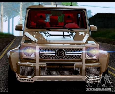 BRABUS 700 - Mercedes-Benz G63 AMG 6x6 pour GTA San Andreas sur la vue arrière gauche