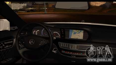 Mercedes-Benz S70 für GTA San Andreas zurück linke Ansicht