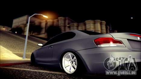 BMW 135i pour GTA San Andreas vue de dessous