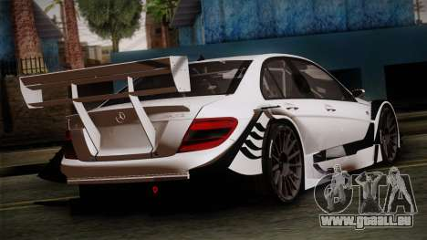 Mercedes-Benz C-Coupe AMG DTM pour GTA San Andreas laissé vue