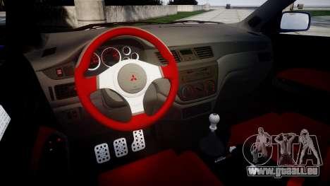 Mitsubishi Lancer Evolution IX für GTA 4 Innenansicht