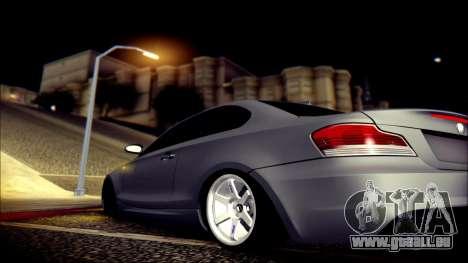 BMW 135i pour GTA San Andreas vue de dessus