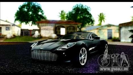 Aston Martin One-77 Beige Black für GTA San Andreas