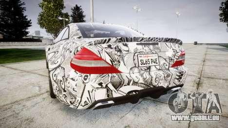 Mersedes-Benz SL65 AMG 2009 Sharpie pour GTA 4 Vue arrière de la gauche