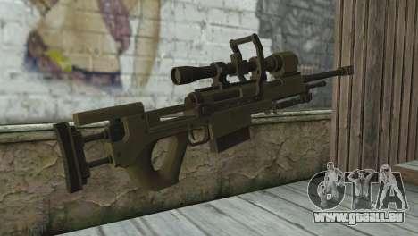 Piers Nivans Rifle from Resident Evil 6 pour GTA San Andreas deuxième écran
