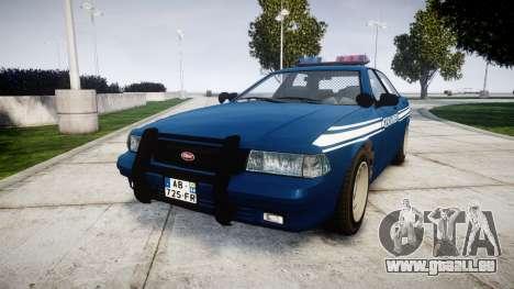 GTA V Vapid Police Cruiser Gendarmerie1 pour GTA 4