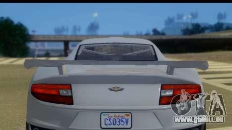 GTA 5 Dewbauchee Massacro IVF für GTA San Andreas zurück linke Ansicht