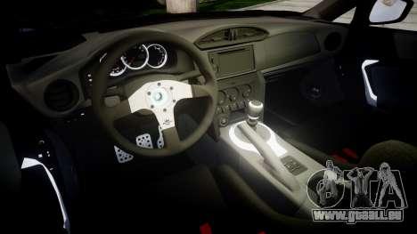 Subaru BRZ 2011 Sharpie pour GTA 4 est une vue de l'intérieur