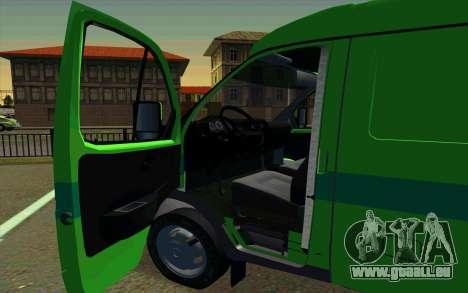 GAZelle 2705 PrivatBank pour GTA San Andreas sur la vue arrière gauche