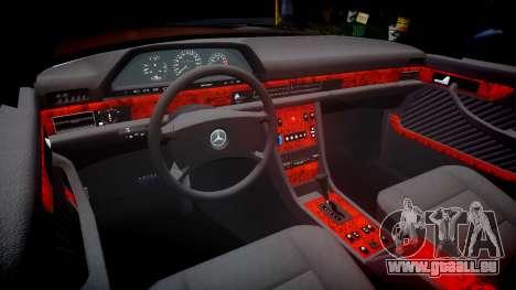 Mercedes-Benz 560SEL W126 pour GTA 4 est une vue de l'intérieur