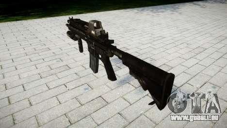 Die HK416 Gewehr Taktische Ziel für GTA 4 Sekunden Bildschirm