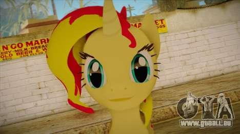 Summer Shimmer from My Little Pony pour GTA San Andreas troisième écran