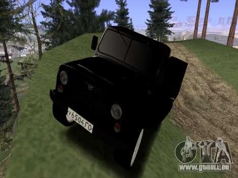 UAZ 469 für GTA San Andreas zurück linke Ansicht