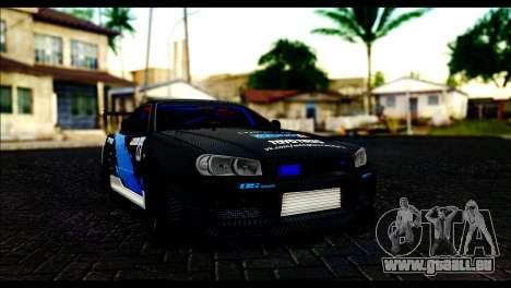 Nissan Skyline GT-R 34 Toyo Tires pour GTA San Andreas