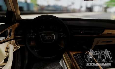 Audi A6 (C7) pour GTA San Andreas sur la vue arrière gauche