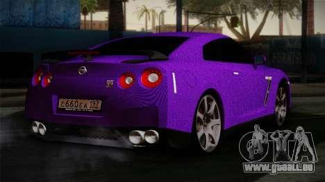 Nissan GTR-R35 pour GTA San Andreas laissé vue