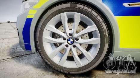 BMW 525d F11 2014 Police [ELS] pour GTA 4 Vue arrière