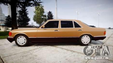 Mercedes-Benz 560SEL W126 pour GTA 4 est une gauche