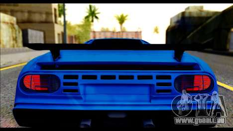 Bugatti EB110SS für GTA San Andreas Rückansicht