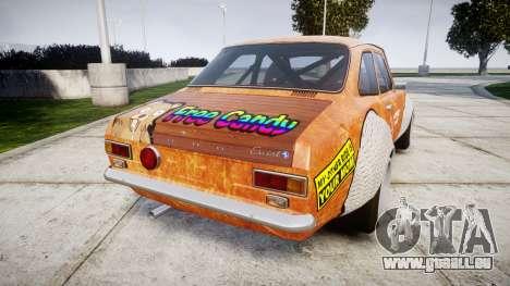 Ford Escort Mk1 Rust Rod v2.0 pour GTA 4 Vue arrière de la gauche