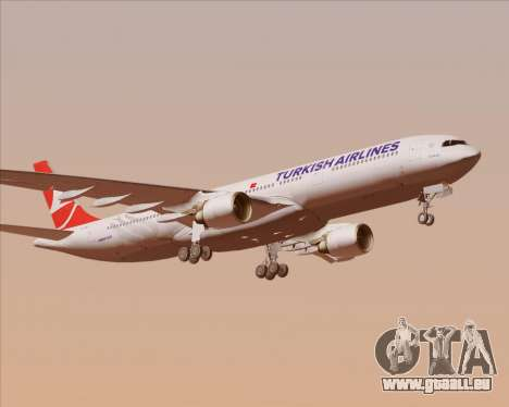 Airbus A330-300 Turkish Airlines für GTA San Andreas obere Ansicht