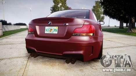 BMW 1M 2011 pour GTA 4 Vue arrière de la gauche