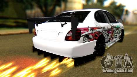 Toyota Aristo pour GTA San Andreas laissé vue