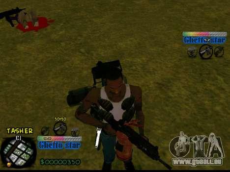 C-HUD Ghetto Star pour GTA San Andreas deuxième écran