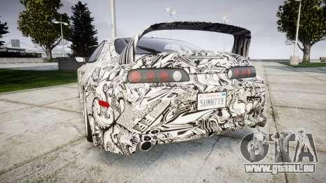 Toyota Supra 1998 Sharpie für GTA 4 hinten links Ansicht