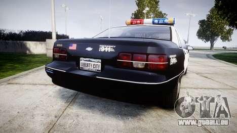 Chevrolet Caprice 1991 LAPD [ELS] Patrol für GTA 4 hinten links Ansicht