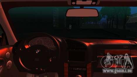 BMW M3 E36 Coupe pour GTA San Andreas sur la vue arrière gauche