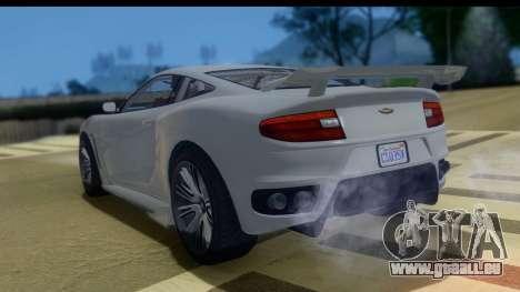 GTA 5 Dewbauchee Massacro IVF pour GTA San Andreas laissé vue