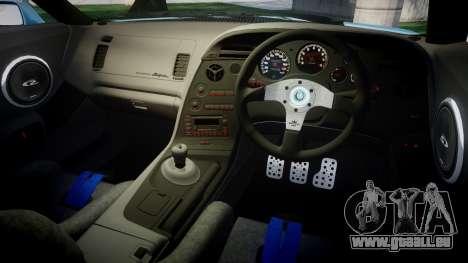Toyota Supra 1998 Sharpie pour GTA 4 est une vue de l'intérieur