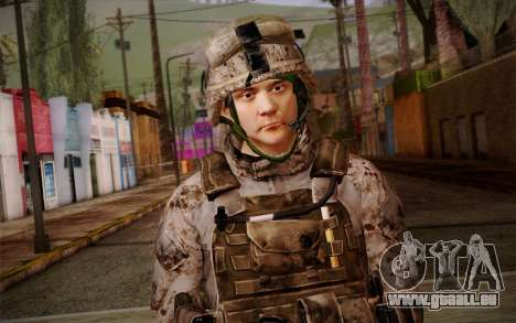 Chaffin from Battlefield 3 für GTA San Andreas dritten Screenshot