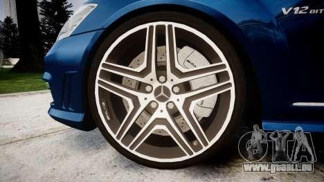 Mercedes-Benz S65 W221 AMG v2.0 rims2 pour GTA 4 Vue arrière